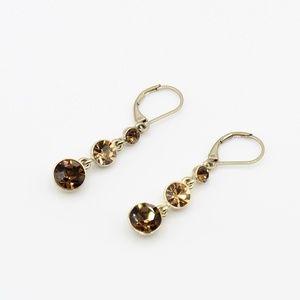 Vintage Napier 3 stone earrings
